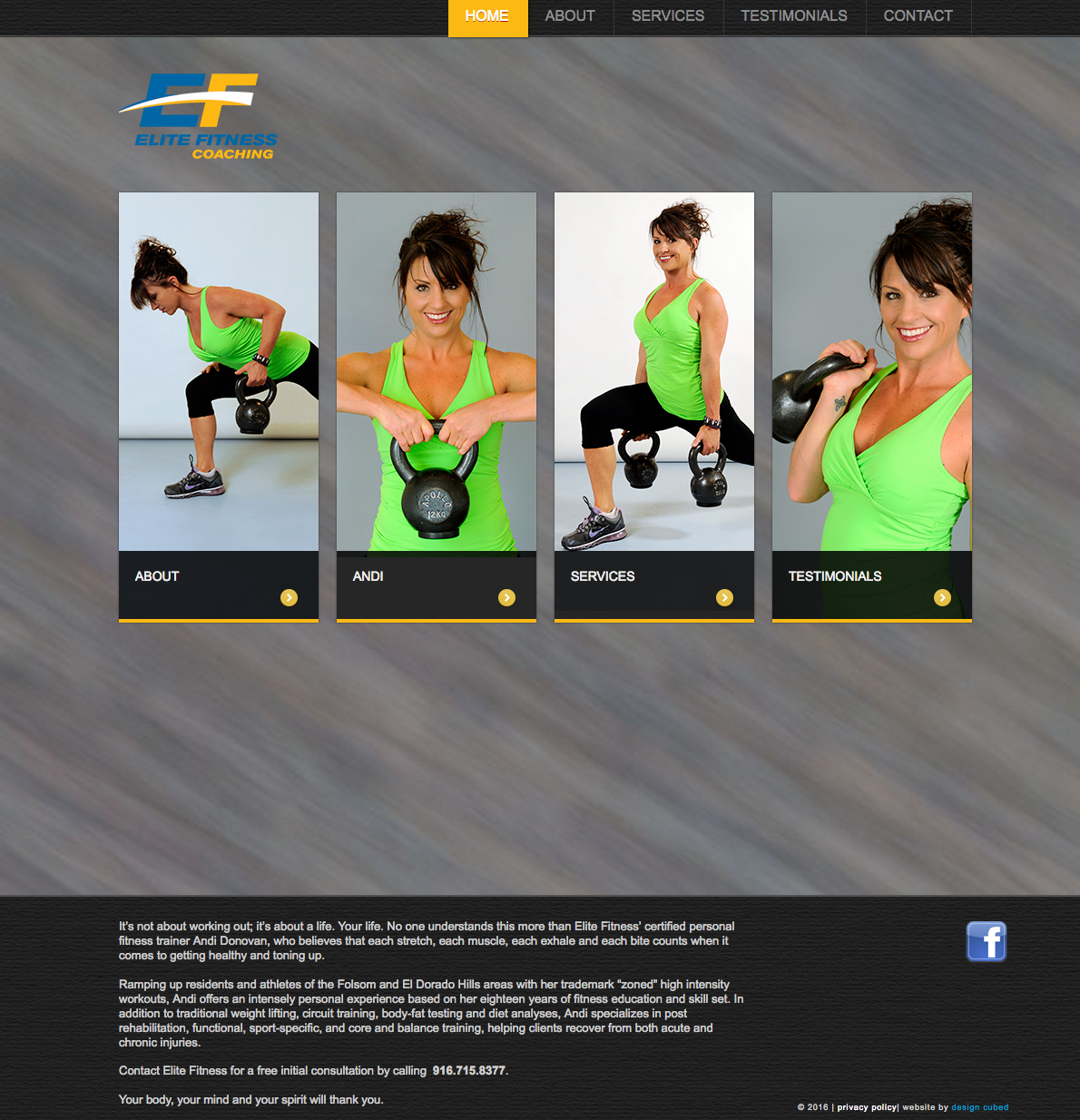 Elite Fitness Coach Home Page Image
